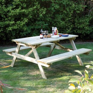 Karina Solid Wood Picnic Table by Rowlinson