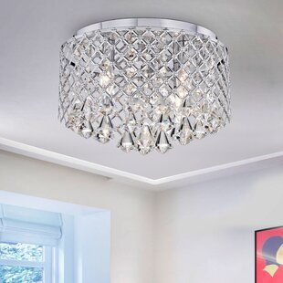 Willa Arlo Interiors Delanie 4-Light LED Flush Mount