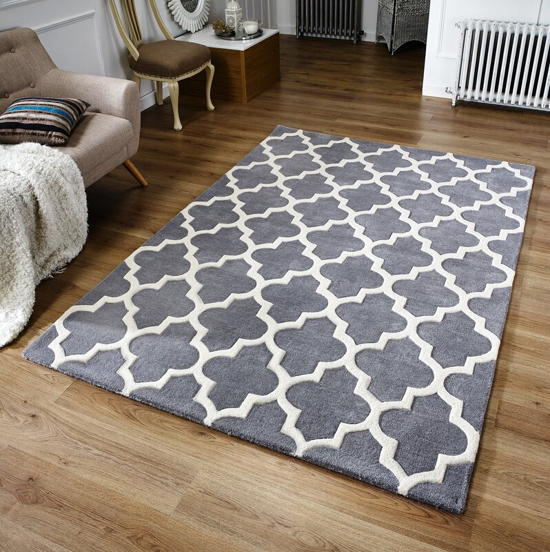 Latitude Vive Oxon Hand Tufted Grey Rug Amp Reviews