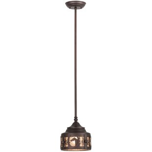 Meyda Tiffany Horseshoe 1-Light Drum Pendant