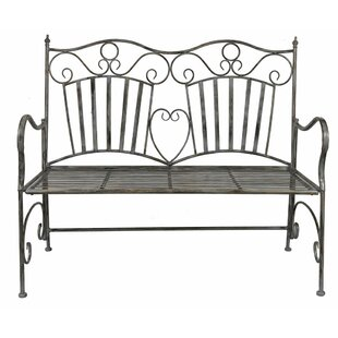 August Grove Falcone Metal Garden Bench