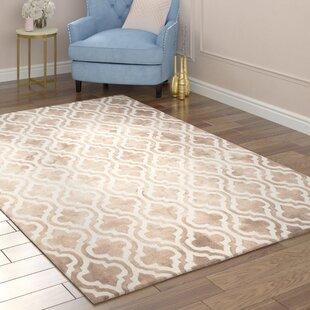 Blakeston Hand-Tufted Wool Beige/Ivory Area Rug by Willa Arlo Interiors