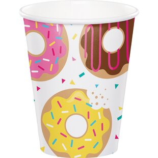 Donut Time Paper Disposable Cup (Set of 24)