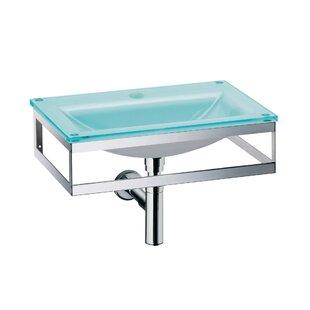 Pocia Glass 21 Wall Mount Bathroom Sink ByWS Bath Collections