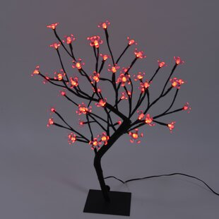 Cherry Blossom Bonsai Tree 48 Light Led Battery Lighted