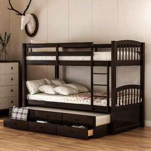 Bovary Kid Twin Bunk Bed with Trundle