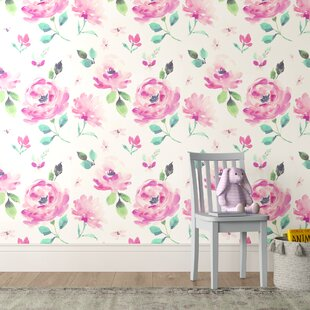 Toro Watercolor Blooms 27 L X W Wallpaper Roll