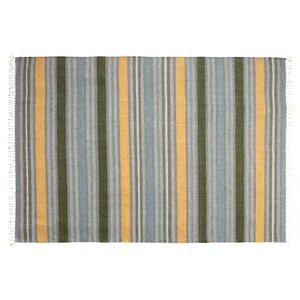 Lori Tropical Hand-Woven Blue Area Rug