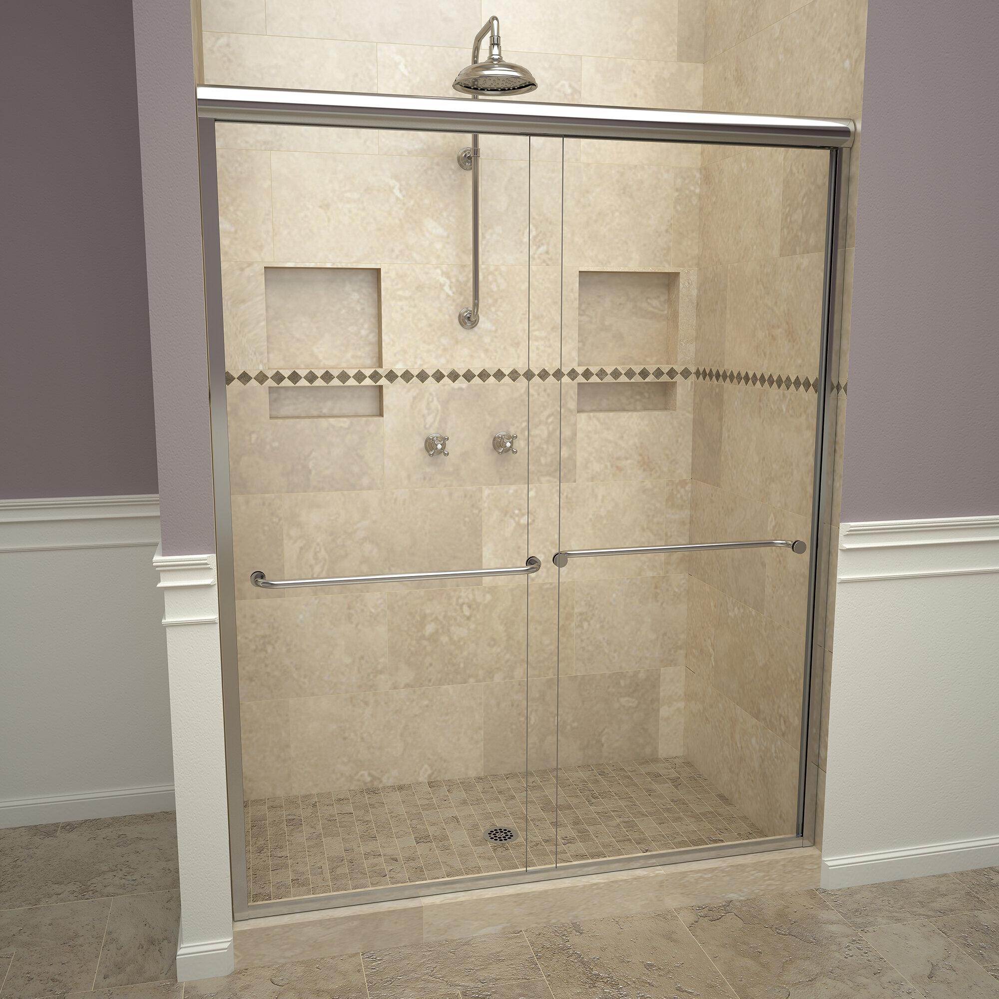 2000v Series 60 X 71 25 Double Sliding Frameless Shower Door