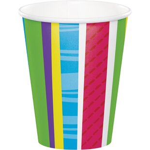 Bright and Bold Paper Disposable Cup (Set of 24)
