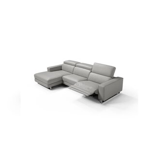 Sania Leather Sectional By Orren Ellis