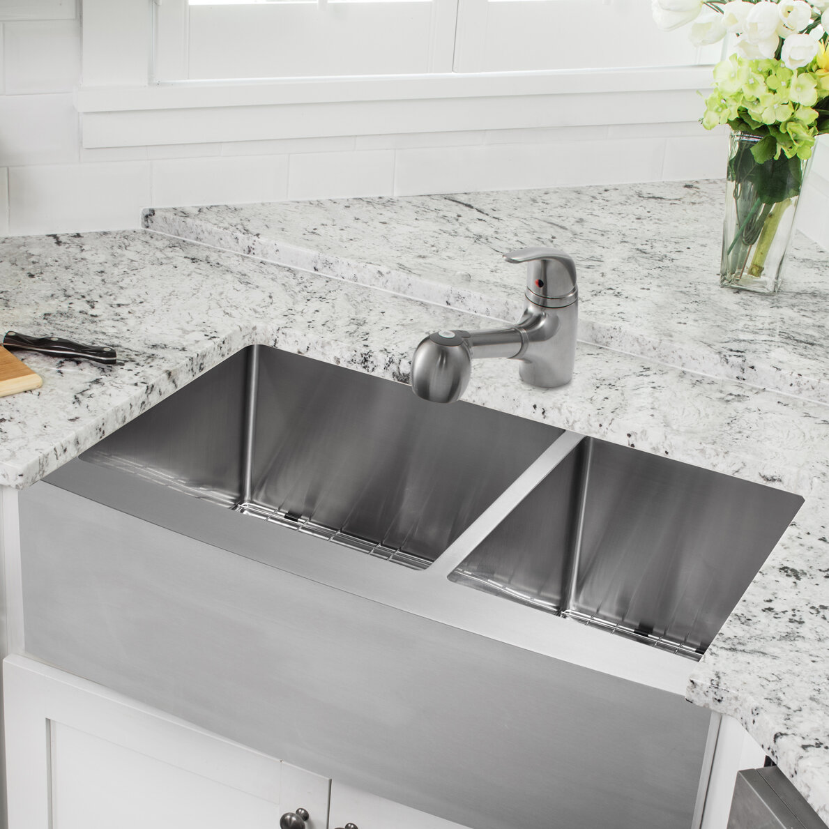 Simple 60 40 Kitchen Sink