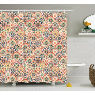 Savings Courtnay Floral Old Display Shower Curtain ByBungalow Rose