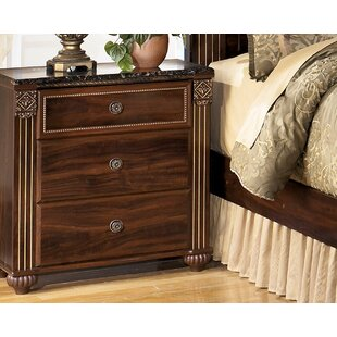 Fredrick 3 Drawer Nightstand