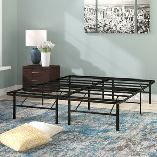 Black Metal Platform Bed Frame by Symple Stuff Find