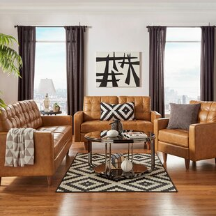 Zaiden 3 Piece Living Room Set by Industrial Lodge Home
