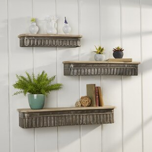 Wadlington 3 Pieces Wall Shelf Set