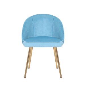 Nesmith Velvet Upholstered Side Chair By Everly Quinn
