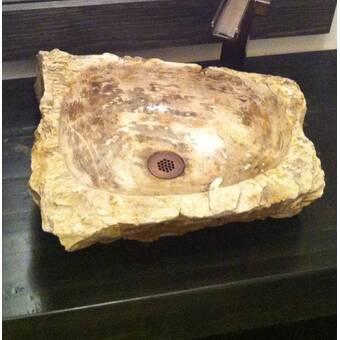 EdenBath Natural Stone Petrified Wood Specialty Vessel ...