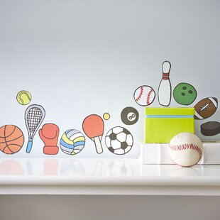 Mini Sports Wall Decals (Set Of 45)