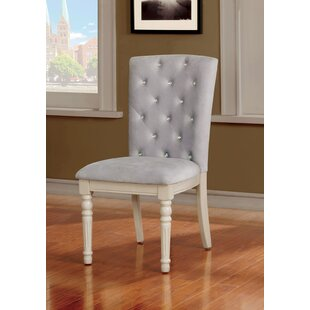 Cartley Button Tufted Upholstered Dining Chair (Set of 2) Ophelia & Co.