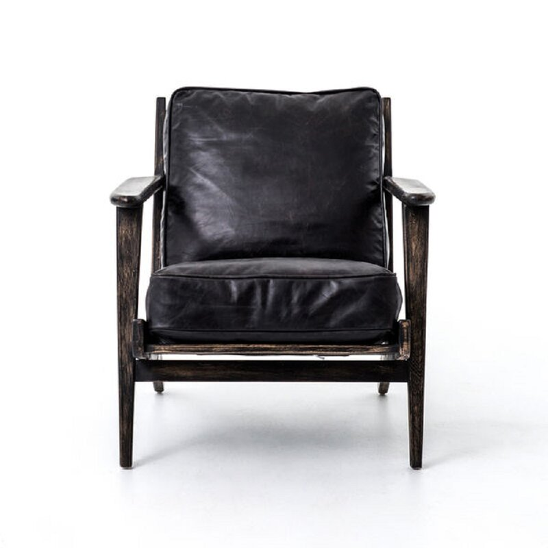 Delisle 34'' Wide Tufted Armchair