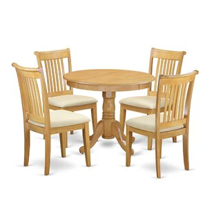 Asher 5 Piece Breakfast Nook Dining Set