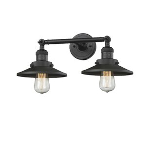 Reviews Mikesell 2-Light Vanity Light ByWilliston Forge