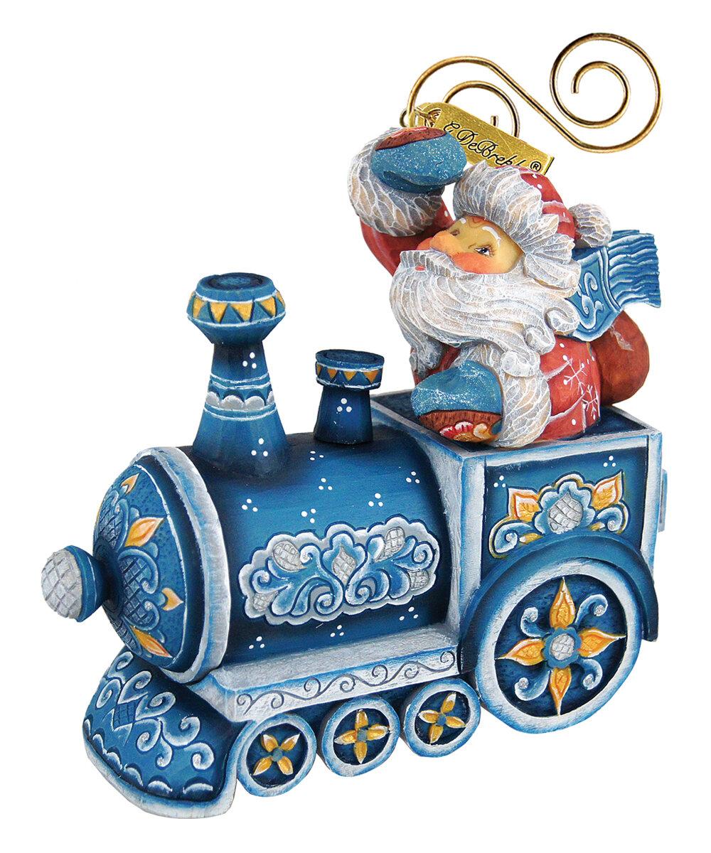 The Holiday Aisle Train Ride Santa Hanging Figurine Derevo Collection Wayfair