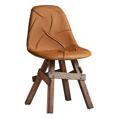Pop Genuine Leather Upholstered Dining Chair Modern Chairs USA