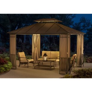 Sunjoy Orleans 10 Ft. W x 12 Ft. D Steel Patio Gazebo