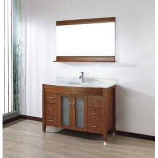 Find for Alfa 48 Single Bathroom Vanity Set with Mirror ByBauhaus Bath