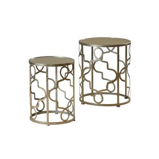 Witney 2 Piece Nesting Table Set by House of Hampton Top Reviews