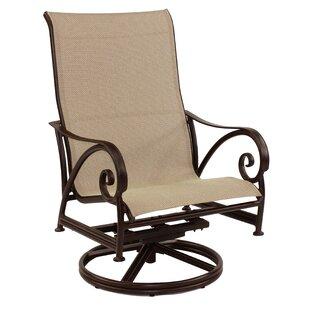 Leona Lucerne Sling Swivel Rocking Chair