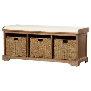 seminole wood storage bench