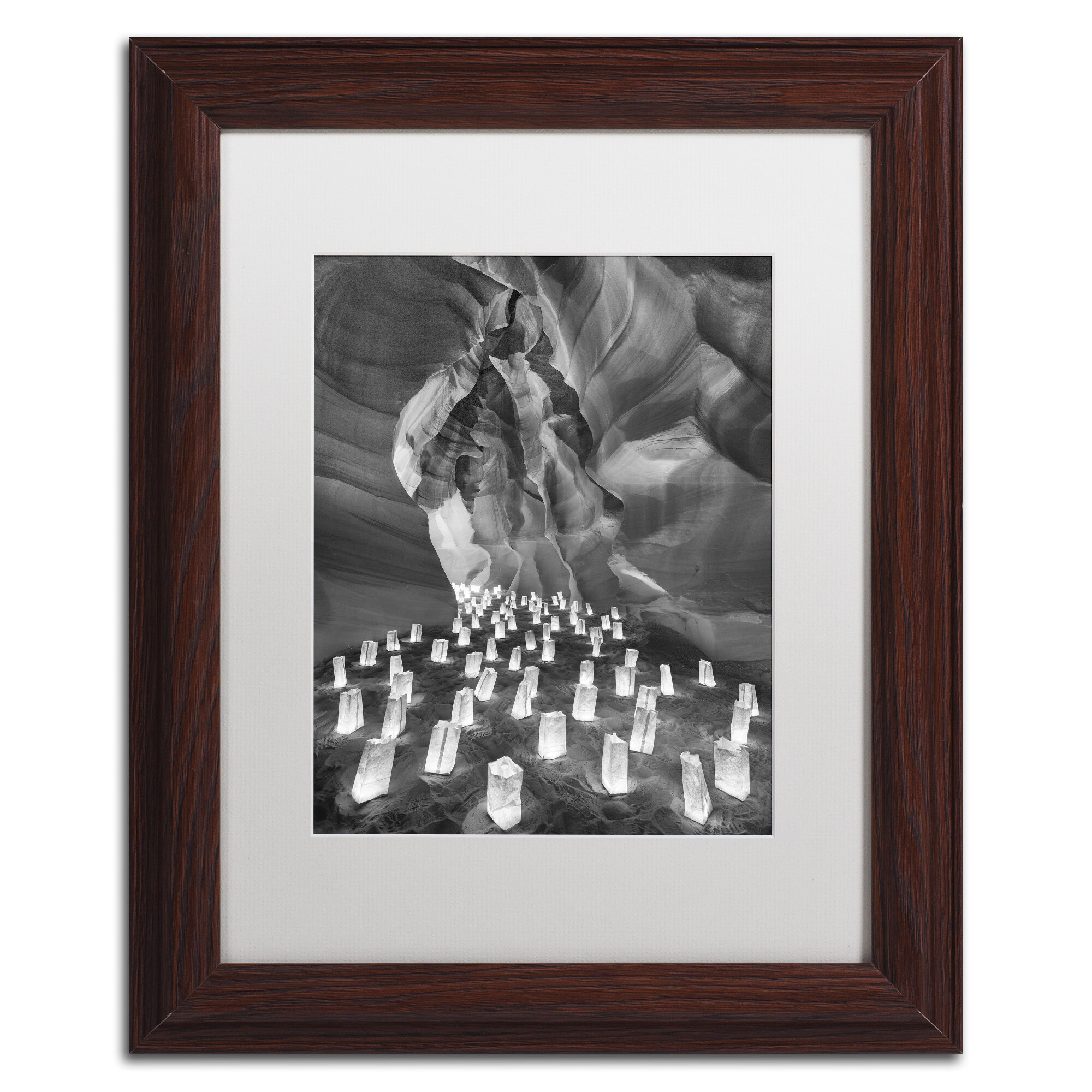Trademark Art Candle Canyon Ii By Moises Levy Framed Photographic Print Wayfair