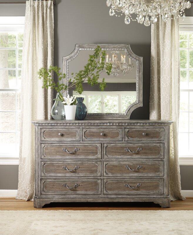 true vintage 9 drawer dresser with mirror