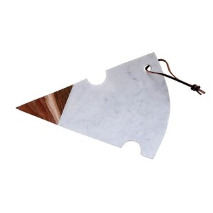 Cheese Shaped Marble and Wood Cutting Board