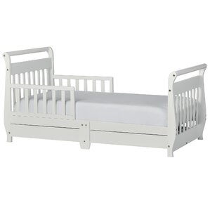 Toddler Sleigh Bed with Storage by Dream On Me