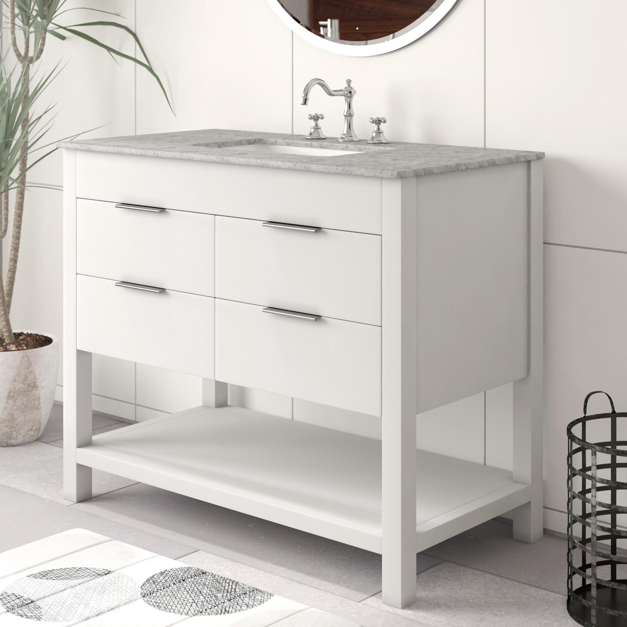 Modern Glam White Bathroom Vanities Allmodern