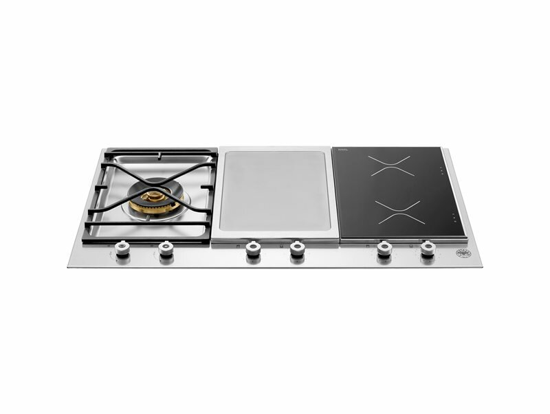 Bertazzoni Pro Series 35 Induction and Gas Cooktop with 4 Burner
