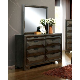 Bender 8 Drawer Double Dresser with Mirror