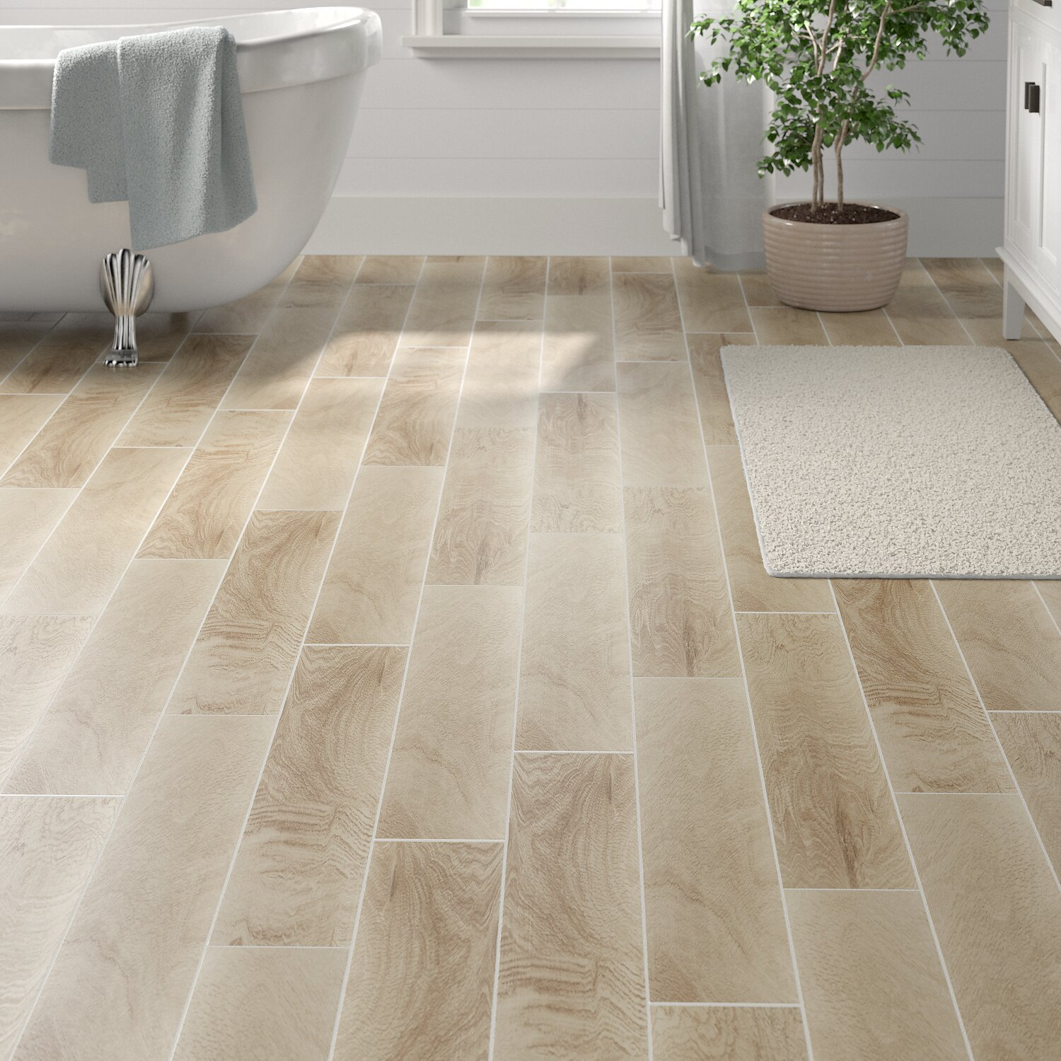Itona Tile Hereford 6 X 36 Porcelain Wood Look Tile Reviews
