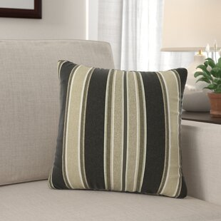 Espada Striped Reversible Outdoor Throw Pillow (Set of 2)