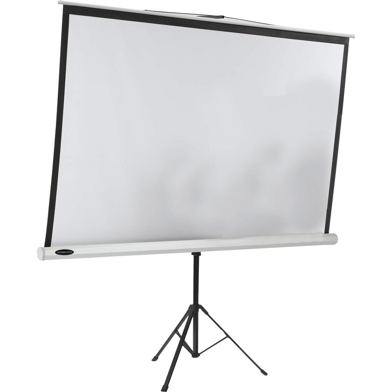 Aarco Matte White Portable Tripod Projection Screen Wayfair