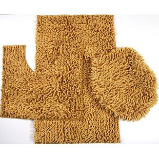 Van Wyck Mix Chenille 3 Piece Bath Rug Set