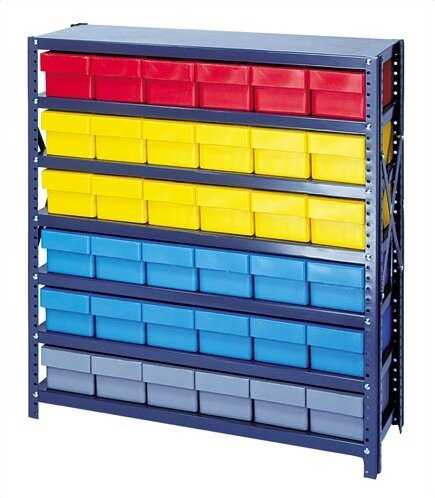 Quantum Open Shelving Storage System With Various Euro Drawers Wayfair