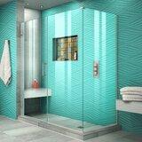 Unidoor Plus Pivot Door 45.5 x 30.38 Rectangle Shower Enclosure by DreamLine