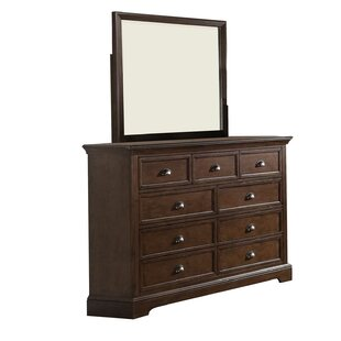 Appleby 9 Drawer Dresser with Mirror by Greyleigh