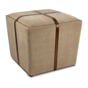 Leather Cube Ottoman by Sa..